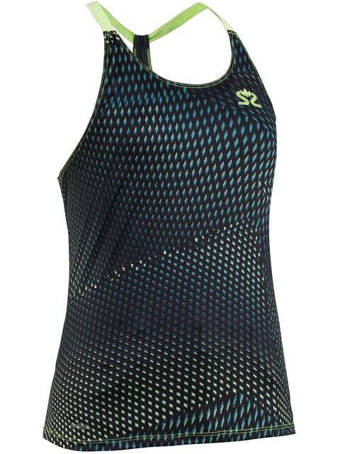 Salming Breeze Hardloopshirt zonder mouwen Dames groen/blauw